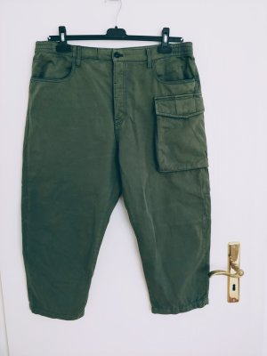 G-Star 7/8 Length Trousers green grey cotton