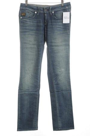 G-Star Straight-Leg Jeans blau-graugrün Casual-Look