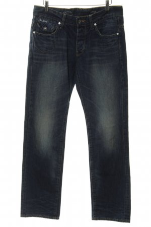 G-Star Straight-Leg Jeans blau-stahlblau schlichter Stil