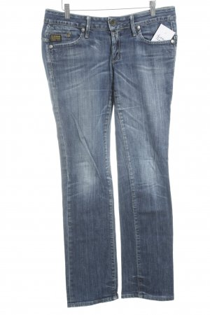 G-Star Straight-Leg Jeans blau Street-Fashion-Look