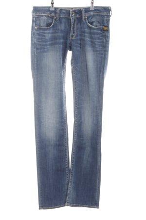 G-Star Straight-Leg Jeans blau Street-Fashion-Look