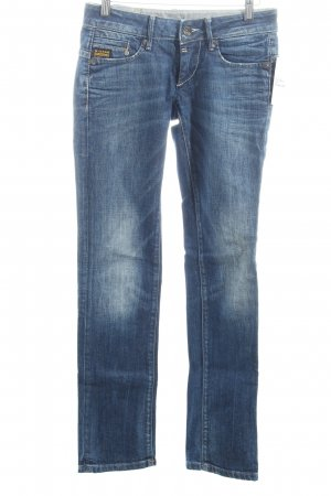 G-Star Straight-Leg Jeans blau-wollweiß Washed-Optik
