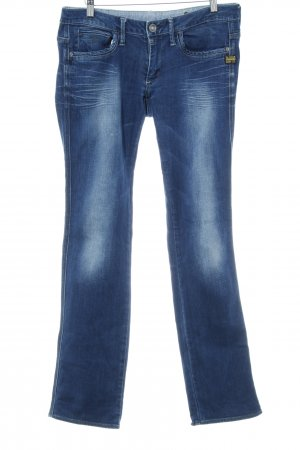 G-Star Straight-Leg Jeans dunkelblau-blassblau schlichter Stil