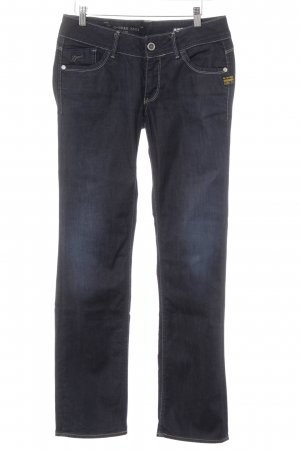 G-Star Jeans met rechte pijpen donkerblauw casual uitstraling