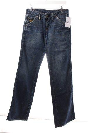 G-Star Straight-Leg Jeans dunkelblau Destroy-Optik
