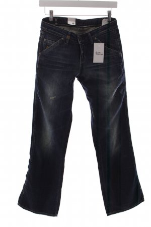G-Star Straight-Leg Jeans dunkelblau Destroy-Optik