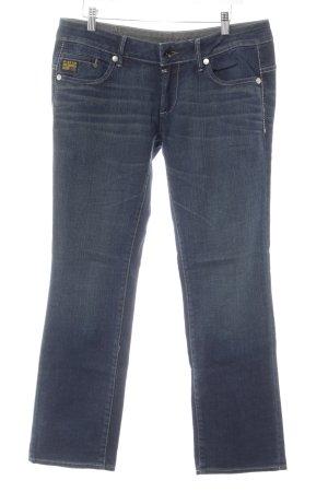 G-Star Jeans met rechte pijpen donkerblauw-leigrijs casual uitstraling