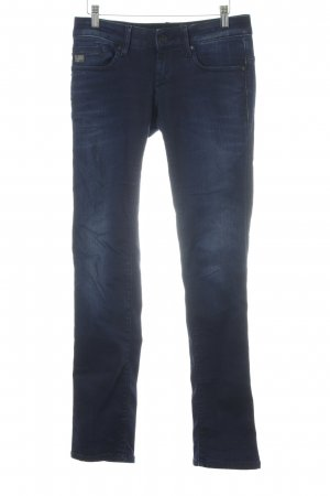 G-Star Straight-Leg Jeans dunkelblau-stahlblau Washed-Optik