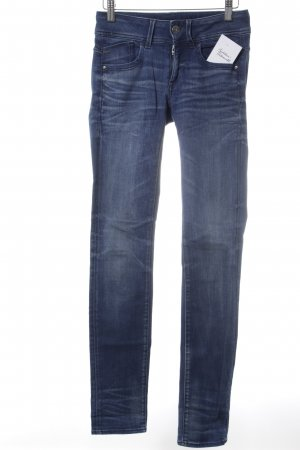 G-Star Straight-Leg Jeans dunkelblau Street-Fashion-Look