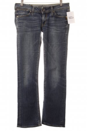 G-Star Straight-Leg Jeans dunkelblau-wollweiß Washed-Optik