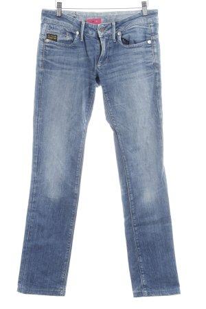 G-Star Jeans met rechte pijpen korenblauw casual uitstraling