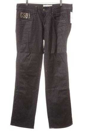 G-Star Jeans met rechte pijpen zwart casual uitstraling