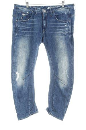 G-Star Jeans met rechte pijpen staalblauw casual uitstraling
