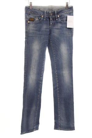G-Star Straight-Leg Jeans stahlblau-wollweiß Casual-Look