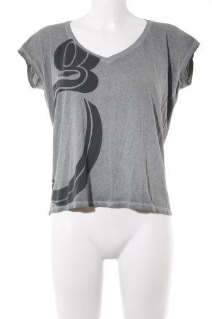 G-Star T-Shirt anthrazit-hellgrau Motivdruck Casual-Look