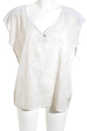 G-Star T-Shirt creme-silberfarben Farbtupfermuster Casual-Look