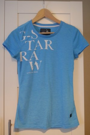 G-Star t-Shirt hellblau mit weißem Aufdruck M