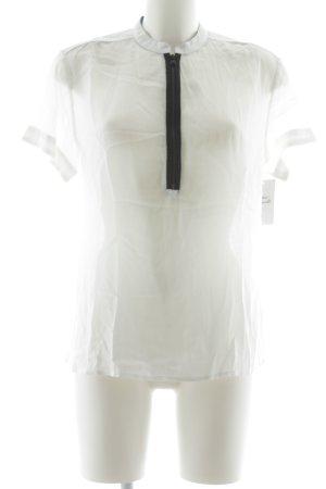 G-Star T-Shirt weiß-schwarz Casual-Look