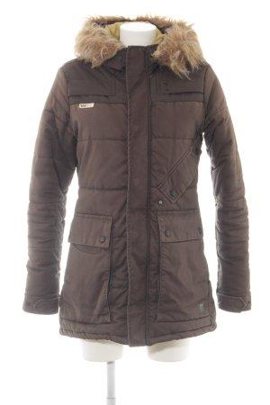 G-Star Veste d'hiver brun motif de courtepointe style décontracté
