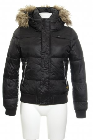 G-Star Winterjacke schwarz Steppmuster Casual-Look