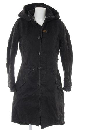 G-Star Winterjas zwart-antraciet casual uitstraling