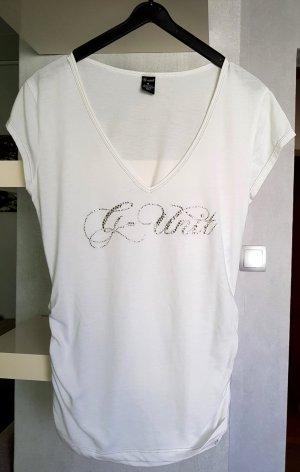 G-Unit Schickes Print T-Shirt mit Strass Weiß M