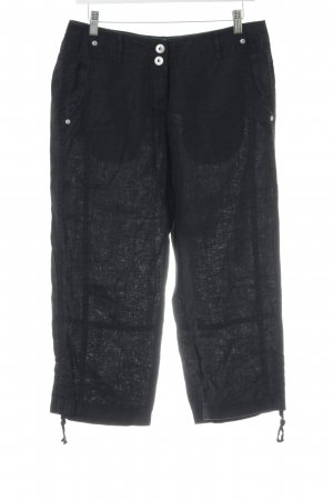 G.W. 3/4 Length Trousers black casual look