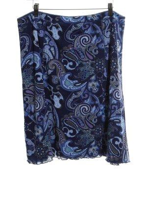G.W. Klokrok blauw abstract patroon casual uitstraling