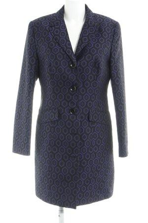 G.W. Long-Blazer dunkelblau-schwarz abstraktes Muster Business-Look