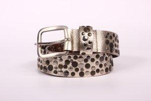 Cinturón de pinchos color oro Cuero