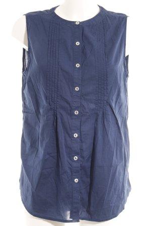 Gaastra ärmellose Bluse dunkelblau Webmuster Casual-Look