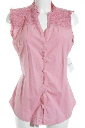 Gaastra ärmellose Bluse rosa Punktemuster Casual-Look