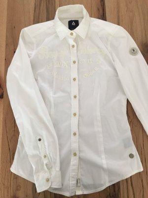 Gaastra Bluse Weiß Rückenemblem 36