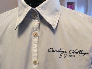 Gaastra Bluse weiß, tailliert, modische designte Details, Größe M