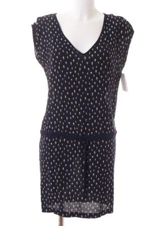 Gaastra Blusenkleid dunkelblau-wollweiß abstraktes Muster Gypsy-Look