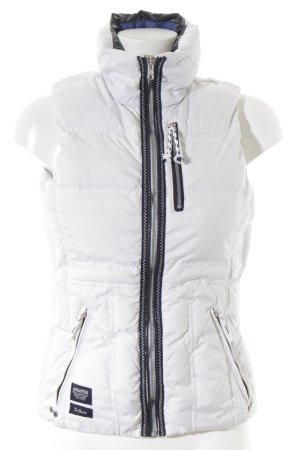 Gaastra Daunenweste weiß-schwarz schlichter Stil