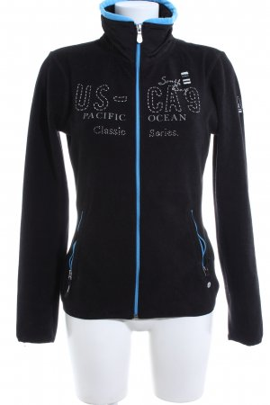 Gaastra Fleece Jackets black printed lettering casual look