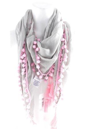 Gaastra Fringed Scarf grey-pink casual look