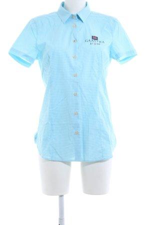 Gaastra Hemd-Bluse blau-weiß Karomuster Casual-Look