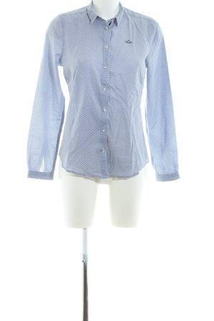 Gaastra Hemd-Bluse blau-weiß Allover-Druck Business-Look