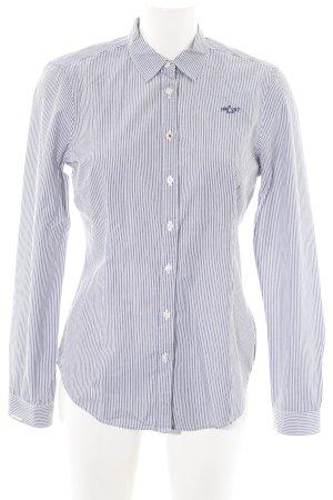 Gaastra Hemd-Bluse blau-weiß Streifenmuster Business-Look
