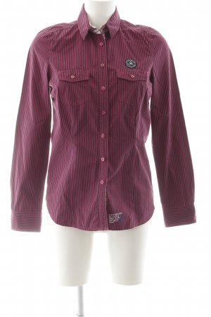 Gaastra Hemd-Bluse magenta Streifenmuster Casual-Look