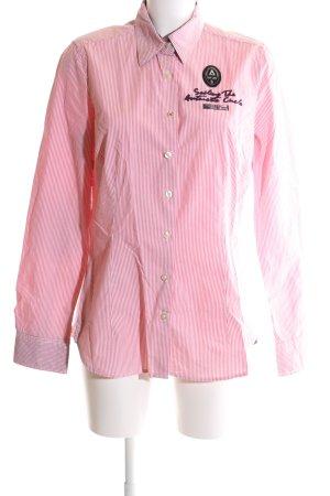 Gaastra Hemd-Bluse pink-weiß Streifenmuster Casual-Look