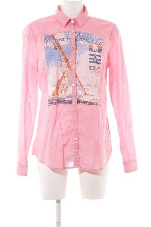 Gaastra Hemd-Bluse rosa Motivdruck extravaganter Stil