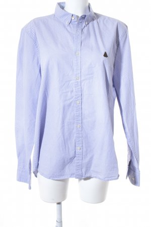 Gaastra Hemd-Bluse weiß-blau grafisches Muster Business-Look
