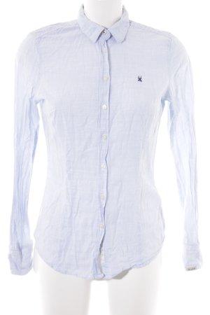 Gaastra Hemd-Bluse weiß-hellblau Streifenmuster Casual-Look
