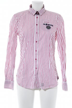 Gaastra Hemd-Bluse weiß-magenta Streifenmuster Casual-Look