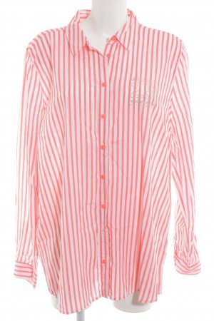 Gaastra Hemd-Bluse weiß-neonorange Streifenmuster Business-Look
