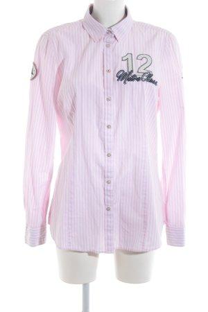 Gaastra Hemd-Bluse weiß-rosa Motivdruck Casual-Look