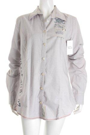 Gaastra Hemd-Bluse weiß-stahlblau Nadelstreifen klassischer Stil